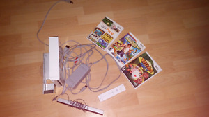 Wii with 3 games