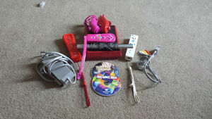 wii and accessories + 4 games