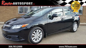CERTIFIED 2012 CIVIC EX 4DR - AUTO - SUN - LOADED - YORKTON