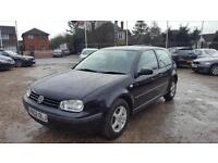 2002 Volkswagen Golf 1.4 Long MOT 3 Owners Low Miles Bargain