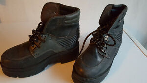 Size 9, NEW black leather shoes  $60