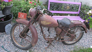 Antique 1947 Royal Enfield Motorcycle Suitabe For Your Decor....