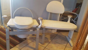 Home Care Shower bench and Commode very good condition