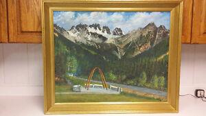 Canadian artist R.H.Mann beautiful landscape oil painting