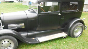 1928 FORD MODEL A 2 DR TUDOR,PACKING A 327!!!!!!!!!!!