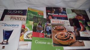 Ensemble de livres de recettes