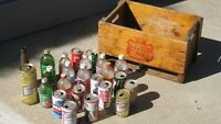 Bottles /tins with wooden case