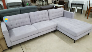 Grey Sectional - Delivery Available