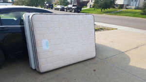 Double Mattress + Boxspring  - Clean - Like New
