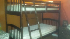 Bunk bed set with matresses