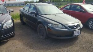 2004 MAZDA 6 AUTOMATIC 4 CYL BODY AND MECHANIC GOOD