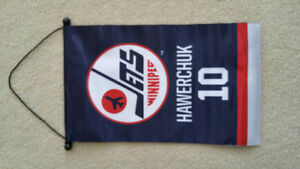 Winnipeg Jets Hall of Fame Dale Hawerchuk mini banner