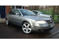 04 04 VW Passat 1.9TDI PD 130BHP Highline 4DR FSH MOT JAN19 FULL LEATHER NON DPF