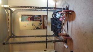 Squat rack with extras abd home gym with attachments