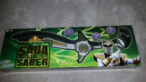 Power Rangers Legacy White Ranger Saba Sword. Rare and Brand