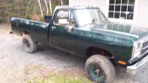 1992 Dodge 3/4 ton Truck for Sale NO TRADES!  AS IS!