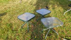 3 small outdoor side tables (pick up only)