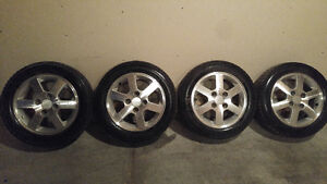 Great alloy rims and winter tires 4x114.3 (185/60/R15)