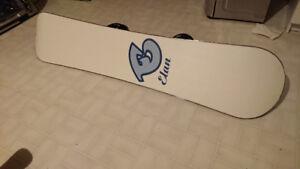 Elan squid 125 snowboard with m3 helix bindings