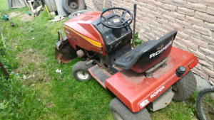 Roper riding lawnmower with snowblower attachment