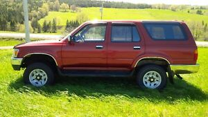 1994 TOYOTA 4 RUNNER 4X4 SUV Fixer-upper or for parts: