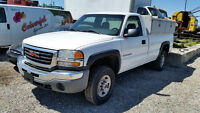 2005 GMC Sierra 2500 HD with Shelving, Boxes and Rear Lift!