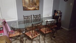 Full cast iron dining table set
