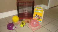 Large Hamster Small Animal Cage with Supplies