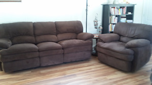 Sofa, Loveseat  and Recliner Chair