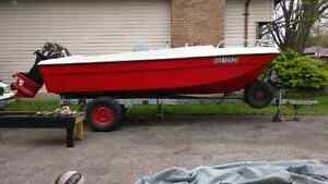 18 ft boat with trailer And 70 hp motor