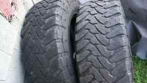 2-Toyo open country Mt 275/70r18 and 1-Continental Contritrac