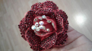 Crystallized Flower hair Accessory with Prong