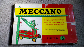 Vintage meccano outfit number 3, £45