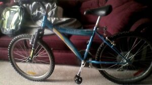 Raleigh 18-spd bike, 24 in. tires, 16 in. frame