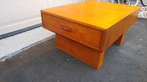 mid century modern teak small coffee table