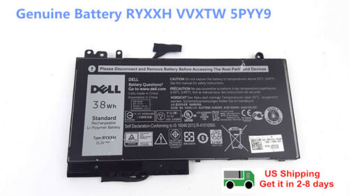 NEW Genuine RYXXH Battery for DELL Latitude 12 11.1V 38Wh E5450 E5550 E5250