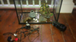 FULL KIT FOR AQUARIUM|LED volcano,decorations,fish tank and more