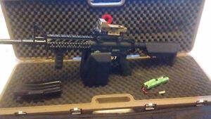 G@G raider airsoft. Box magazine. Solid carry case and battery