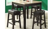2 BARSTOOLS IN BROWN LEATHER 99$ both