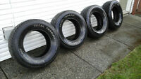 (4) Truck Tires for sale