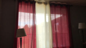Curtains and rod