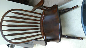 Solid wood rocker