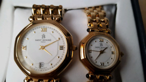 SAINT HONORE MEN&WOMEN WATCH SET NEW,TED LAPIDUS WATCH SET NEW..