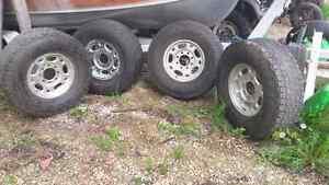 4 Wheels and Tires, 8 stud. Sz 16 Strathcona County Edmonton Area image 1
