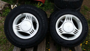 15in Aluminum mustang rims with like new tires.