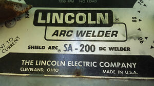 Lincoln Gas Portable Welder on Trailer