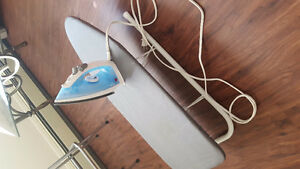 Iron and mini ironing board