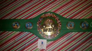 WBC signed belt