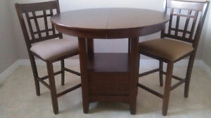 Pub Table and 4 Chairs - 2 still in boxes - NEW CONDITION