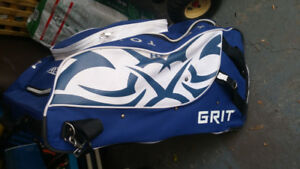 GRIT hockey bag- Blue and White in colour